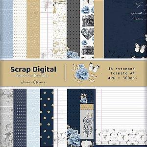 Scrap Digital Aprecie a Jornada |  by Vinicius Barbosa | A4 - 16 folhas| JPEG - 300dpi