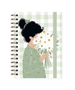 Floral Pistache ❋ Lubi | Caderno A5