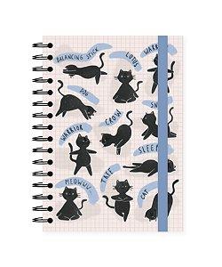 Gatos Ioga| Caderno Colegial ∙ 90 folhas