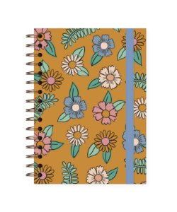 Floral Amarelo | Caderno A4 • 90 folhas