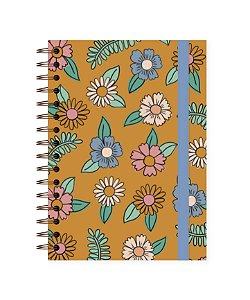 Floral Amarelo | Caderno Colegial • 90 folhas