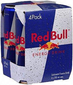 Energético Red Bull 250ml (4 unidades) tradicional ou zero açúcar
