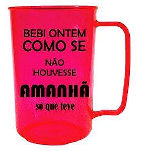 Caneca SOS BEBIDA 400ml Pink