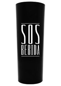 Copo SOS BEBIDA 350ml Black