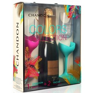 Kit Espumante Chandon Brut Colors Collection + 2 taças exclusivas
