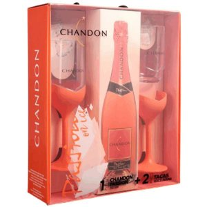 Kit Espumante Chandon Passion 750ml + 2 taças