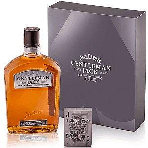 Kit Whisky Gentleman Jack + baralho Jack Daniels