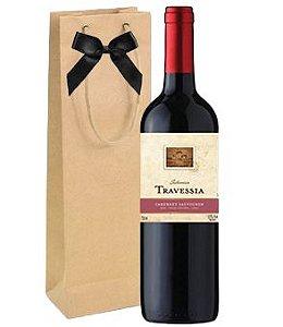 Vinho Travessia Cabernet Sauvignon 750ml + embalagem