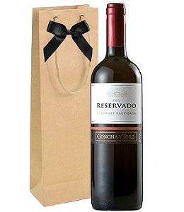 Vinho Concha y Toro Reservado Cabernet Sauvignon 750ml + embalagem