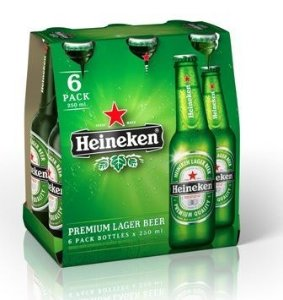 Cerveja Heineken Long Neck 355ml (6 unidades)