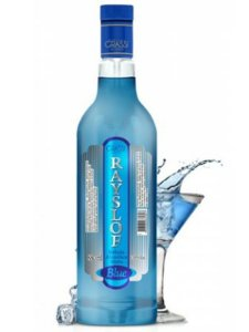 Vodka Rayslof Blue Curaçau 880ml
