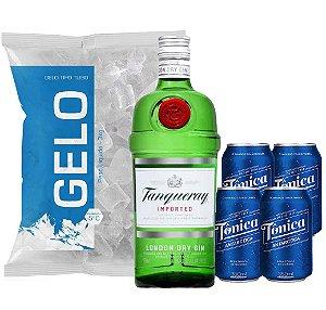 Gin Tanqueray + 4 Tônica + Gelo