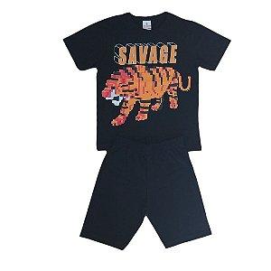 Conjunto Menino Tigre Savage - Tam 4 - Brandili