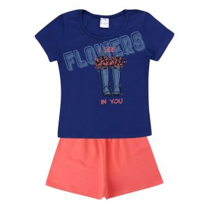 Conjunto Menina Flowers - Tam 4 - Be Fun