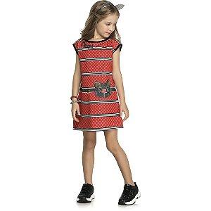 Vestido Cool  Vermelho - Tam 8 -  Kely Kety
