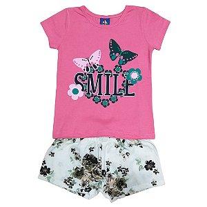 Conjunto Menina Smile - Tam 3 - Pipa