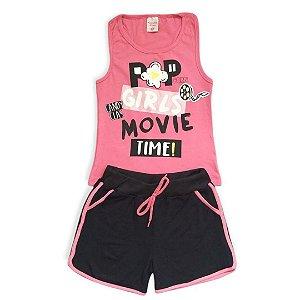 Conjunto Menina Popcorn Girls Movie - Tam 6 - Candy Class