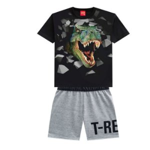 Conjunto Masc T-Rex  - Tam 1 - Kyly