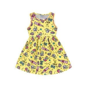 Vestido Soda Pop Amarelo - Tam 6 - Fakini For Fun