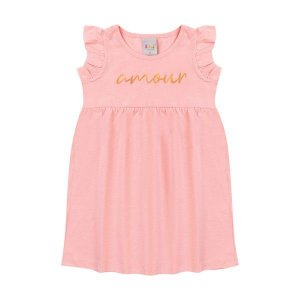 Vestido Amour Rosa  - Tam 1 - Kiiwi Kids