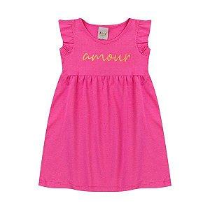 Vestido Amour Pink  - Tam 3 - Kiiwi Kids