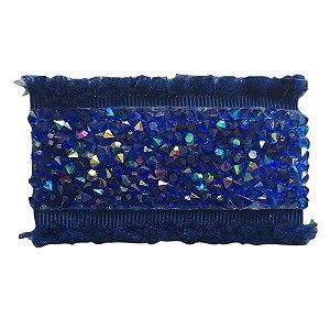 Hair Clip com Cristal Azul