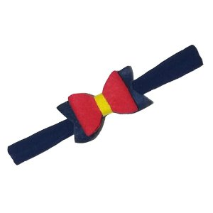 Faixa de Cabelo Azul Laço Vermelho