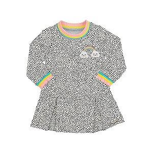 Vestido Menina Rainbow Mescla - Tam 3 - Alakazoo