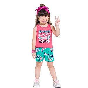 Conjunto Menina Happy Camélia - Tam 1 - Brandili