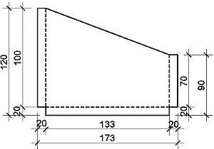 TAMPA CALHA ZC 26 (0,50MM) 120 X 173 X 90MM