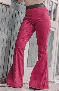 Calça Flare Linho Red
