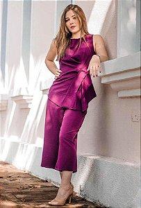 Calça Pantacourt Atenas Violeta