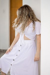 Vestido Cropped Off White