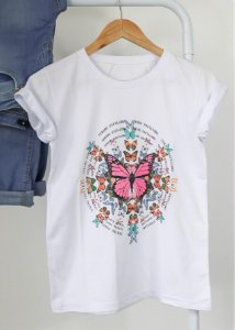 T-shirt Papillons Branco
