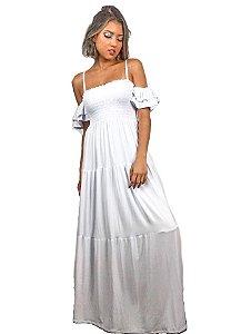 Vestido longo lastéx branco