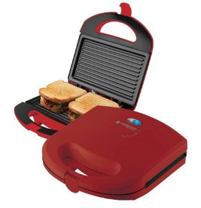 Sanduicheira Mini grill Colors Vermelha Cadence