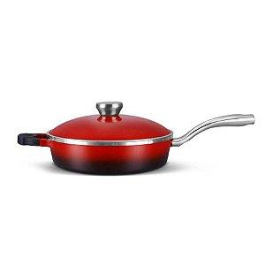 Frigideira Proteus Redonda Gourmet Vermelha Mta