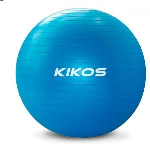 Bola de Ginastica 65 cm Azul  - Kikos AB3632