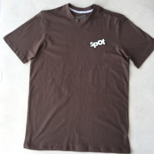 Camiseta Spot marrom Logo Emborrachado