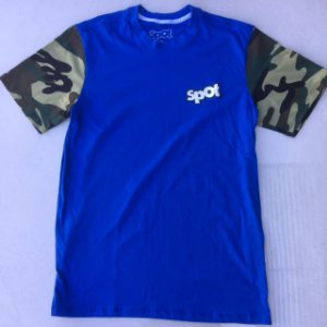 Camiseta Spot Azul Turquesa Manga Exercito