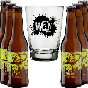 Kit Way Beer 6 Cervejas Witbier 355ml Copo Brinde