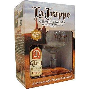 Kit Cerveja e Taça La Trappe Dubbel 330ml