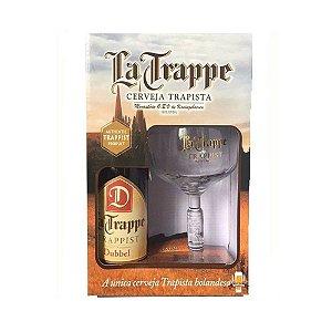 Kit Cerveja e Taça La Trappe Dubbel 750ml