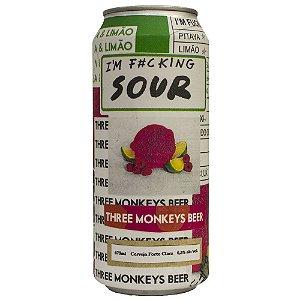 Cerveja THREE MONKEYS IM FUCKING SOUR Lata 473ml