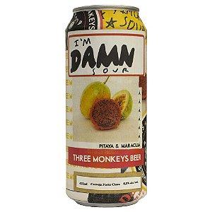 Cerveja Three Monkeys I'm Damn Sour Lata 473ml