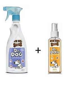 Kit Dr. Dog Banho a seco 500ml + perfume 120ml