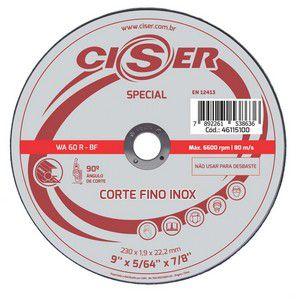 DISCO CORTE FINO INOX  9x5/64x7/8