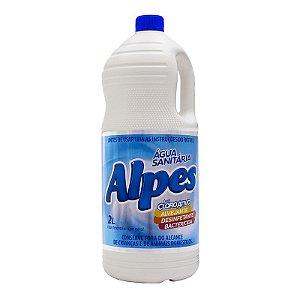 Água Sanitária Alpes com Cloro Ativo 2L, Limpa, Alveja, Desinfeta
