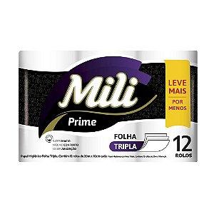 Papel Higiênico Mili Folha TRIPLA L12 - 20m