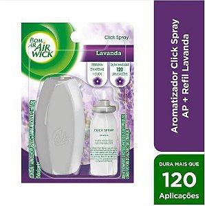 Bom Ar Air Wick Aromatizador Click Spray Lavanda Aparelho + Refil 12ml